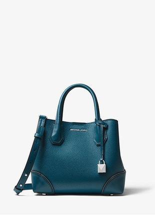 Женская сумка кроссбоди michael kors mercer gallery small pebbled leather