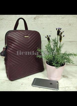 Женский городской рюкзак небольшого размера david jones 6146-2t бордовый