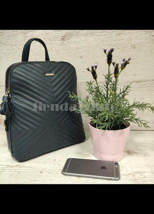 Женский городской рюкзак небольшого размера david jones 6146-2t зеленый