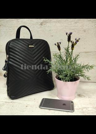 Женский городской рюкзак небольшого размера david jones 6146-2t черный