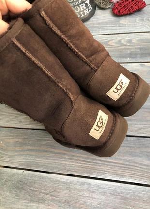Ugg australia кожаные угги на натуральном меху, на овчине3 фото