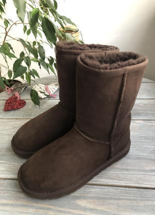 Ugg australia кожаные угги на натуральном меху, на овчине2 фото