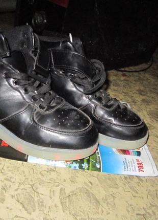 Светящие кроссовки-кеды р 36,5-37,58