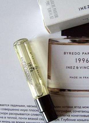Byredo 1996 inez & vinoodh_original  eau de parfum 2 мл затест_парфюм.вода1 фото