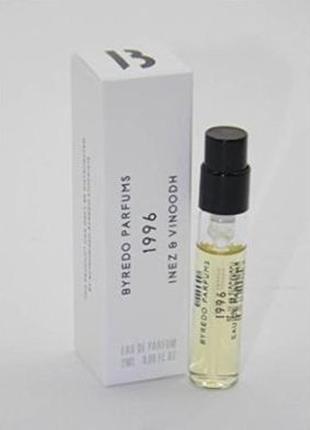 Byredo 1996 inez & vinoodh_original  eau de parfum 2 мл затест_парфюм.вода3 фото