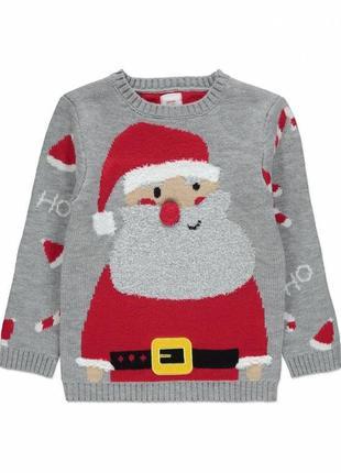 3-4 года, новогодний свитер george.