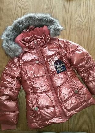 Зимняя курточка на девочку 6лет