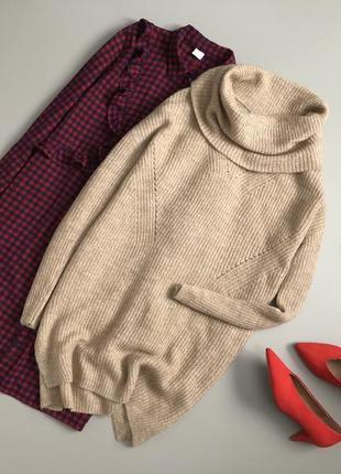 Уютный удлиненный свитер / платье оверсайз tu