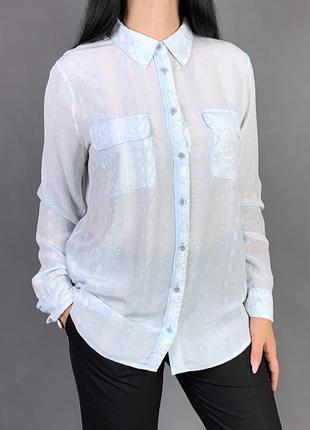 Рубашка100%   шелк змеиный принт equipment