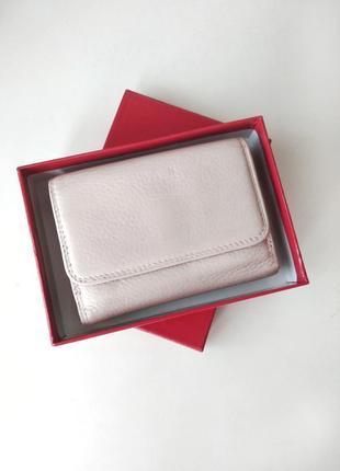 Кошелек с натуральной кожи - vera pelle портмоне кожаный бежевый/разноцветный