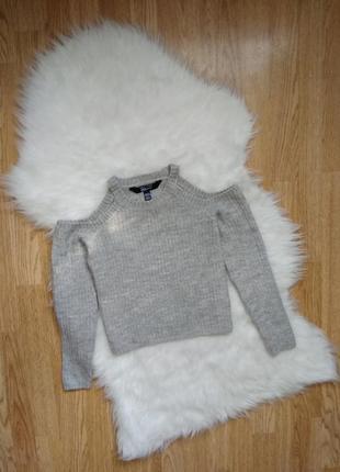 Крутой реглан с открытыми плечами,джемпер,свитер,укороченная кофта,светр