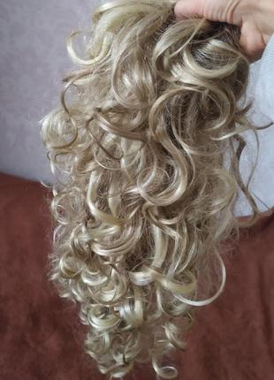 Волосы, шиньон, хвост