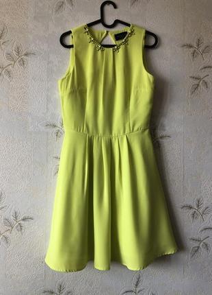 Желто-лимонное платье mohito