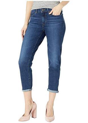 Мега стильные джинсы кроп с отворотами размер 20-22