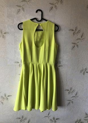 Желто-лимонное платье mohito2 фото