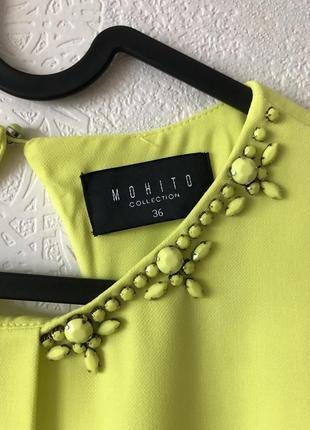 Желто-лимонное платье mohito3 фото