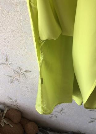 Желто-лимонное платье mohito6 фото