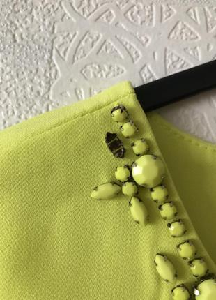 Желто-лимонное платье mohito5 фото