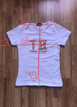 Женская белая базовая футболка tommy hilfiger2 фото