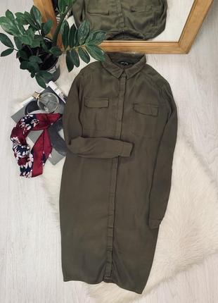 Плаття кольору хакі на ґудзиках від new look🖤🖤🖤