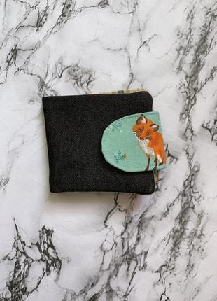 Кошелёк с 🦊 hand made, кошелёк ручной работы, портмоне