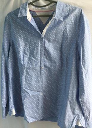 Джинсовая рубашка christian berg с принтом