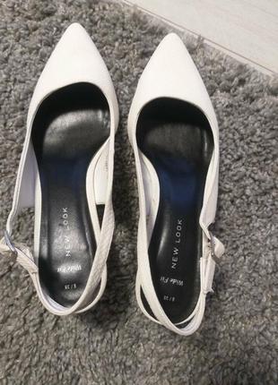 Босоножки закрытые new look 39р. туфли