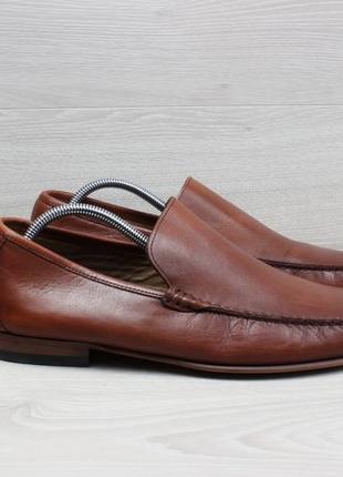 Кожаные мужские туфли лоферы m&s luxury, размер 45 (мокасины)