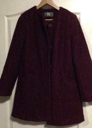 Пальто темно бордовое 10 размер