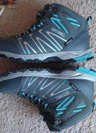 Ботинки inoc с soft shell tech tex 39 р 25.5 см трекинг