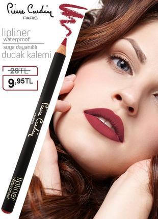 Влагостойкий карандаш для губ pierre cardin red passion/красный рубин