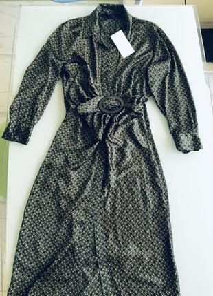 Сатиновое платье zara