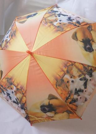 Зонт детский собаки, полуавтомат