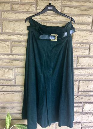 Безумно красивая дизайнерская  юбка миди/ винтаж  изумрудного цвета ⭐️