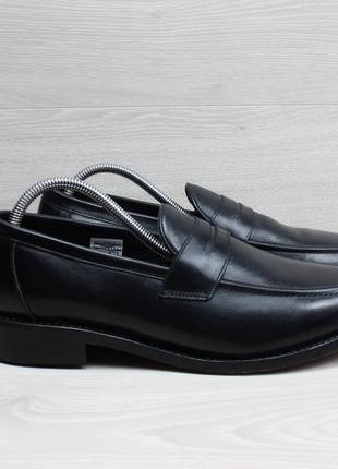 Кожаные мужские туфли лоферы samuel windsor, размер 44.5