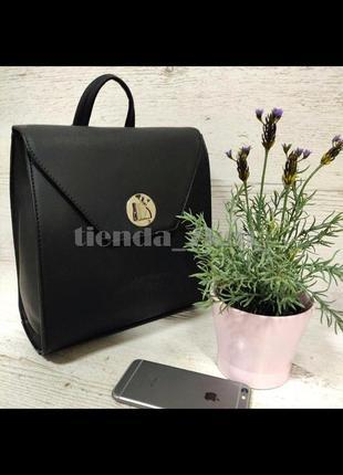 Стильный матовый женский рюкзак небольшого размера david jones sf006 черный