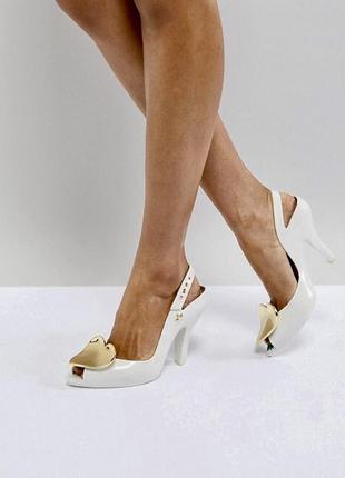 Vivienne westwood pearl white for melissa heart оригинальные босоножки