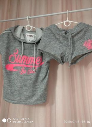 Комплект шорты и футболка