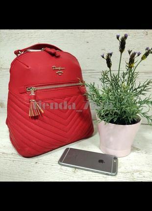 Стильный женский рюкзак david jones небольшого размера cm5423t красный