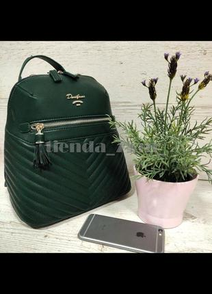 Стильный женский рюкзак david jones небольшого размера cm5423t зеленый