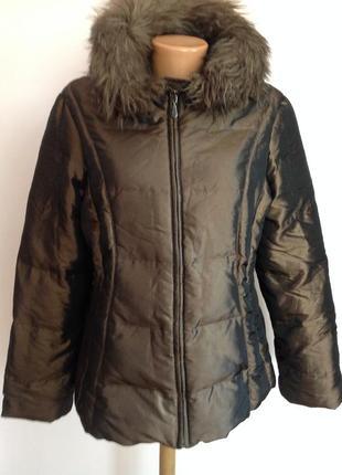 Зимняя курточка- пуховик  с капюшоном. /m/ brend jones new york