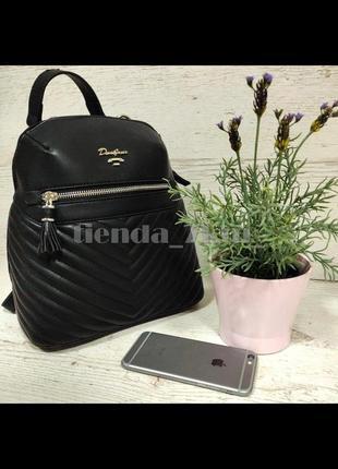 Стильный женский рюкзак david jones небольшого размера cm5423t черный
