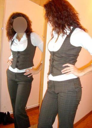 Костюм офисный коричневый (жилет и брюки) orsey