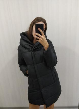 Куртка зимняя одеяло| большой капюшон| цена осень со скидкой