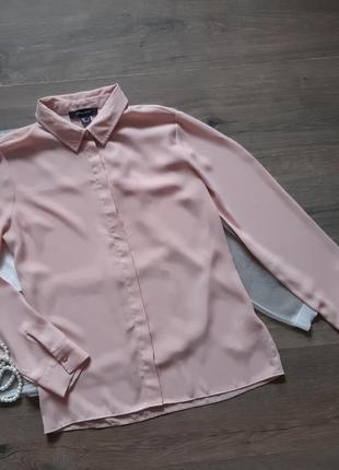 Нежная пудровая рубашка женская. сорочка