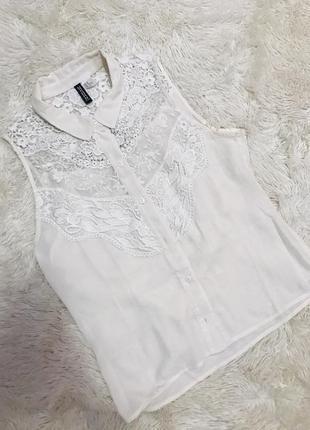 Красивая кружевная блуза h&m