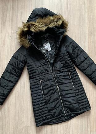 Пальто демисезонное длинное чёрное куртка пуховик с капюшоном vero moda