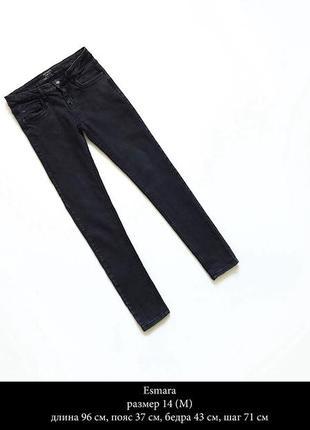 Стильные черные джинсы размер m