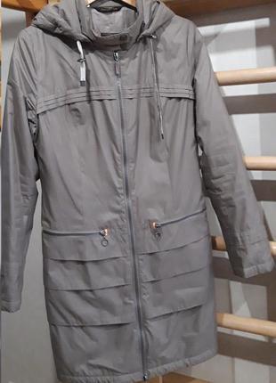 Демисезонная приталенная куртка cop.copine, цвет серо-коричневый