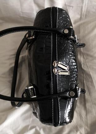 Шикарная большая кожаная сумка vera pelle, италия5 фото